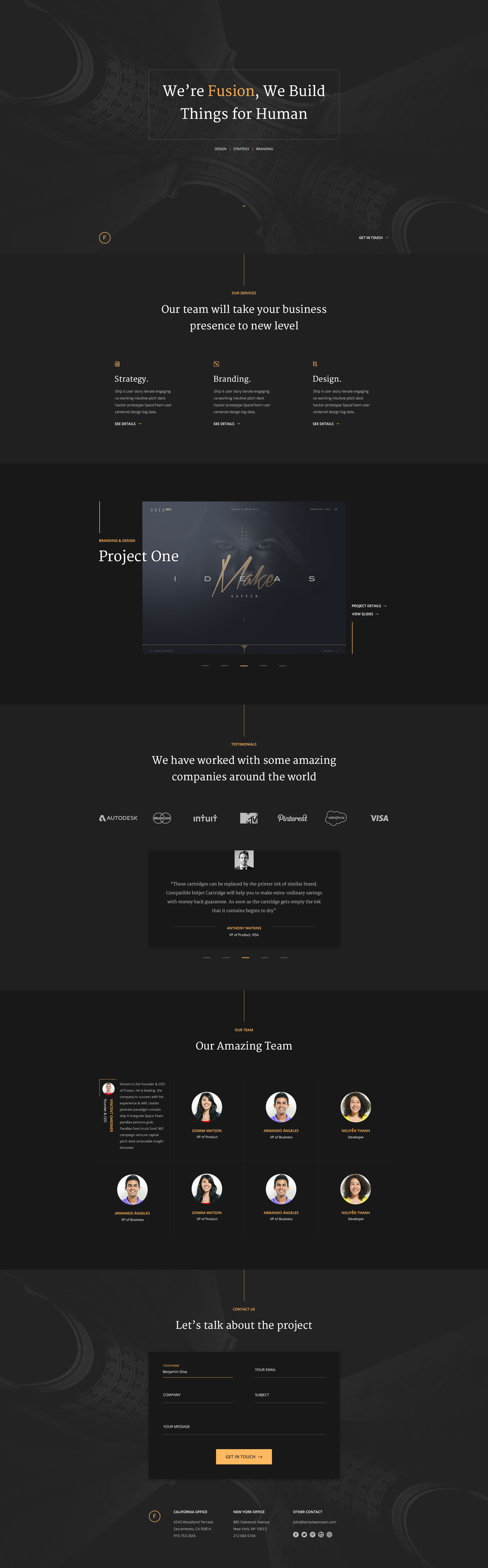 Free Portfolio Template for personal and agency website. #Template ...
