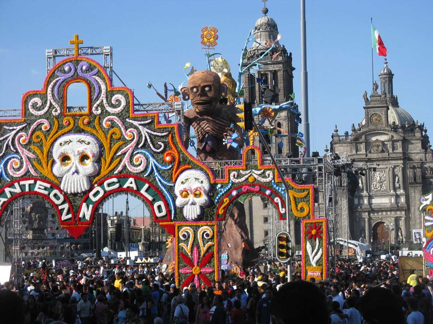 The Day of the Dead Festival in Mexico City, Mexico ...