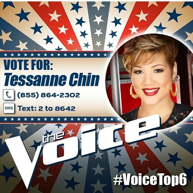 Show your support for #Jamaicanmusic. Vote for Tessanne Chin on NBC's The Voice #TessTop4