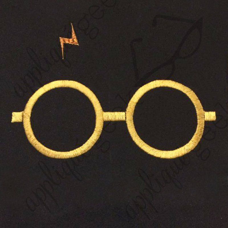 Harry Potter Inspired Glasses and Scar Embroidery Design