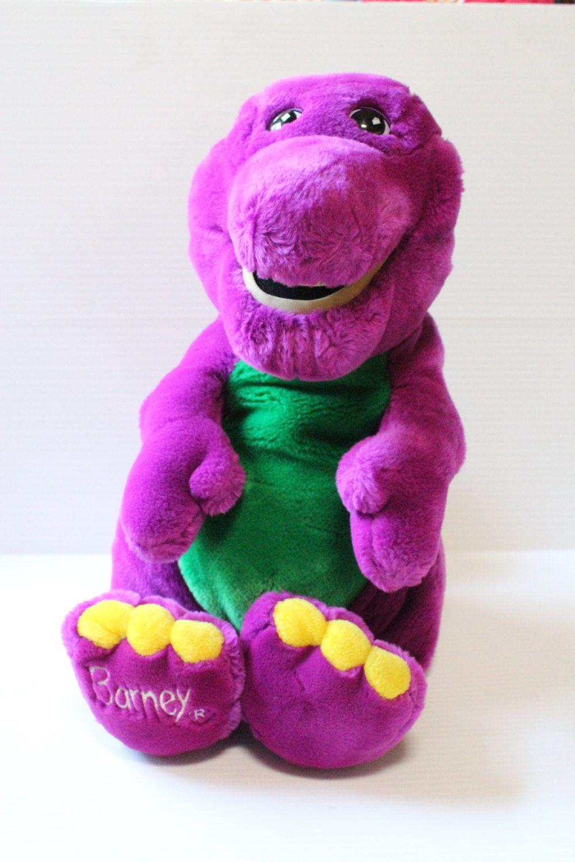 Large Barney Stuffed Plush Animal Purple Dinosaur Stuffed Animal