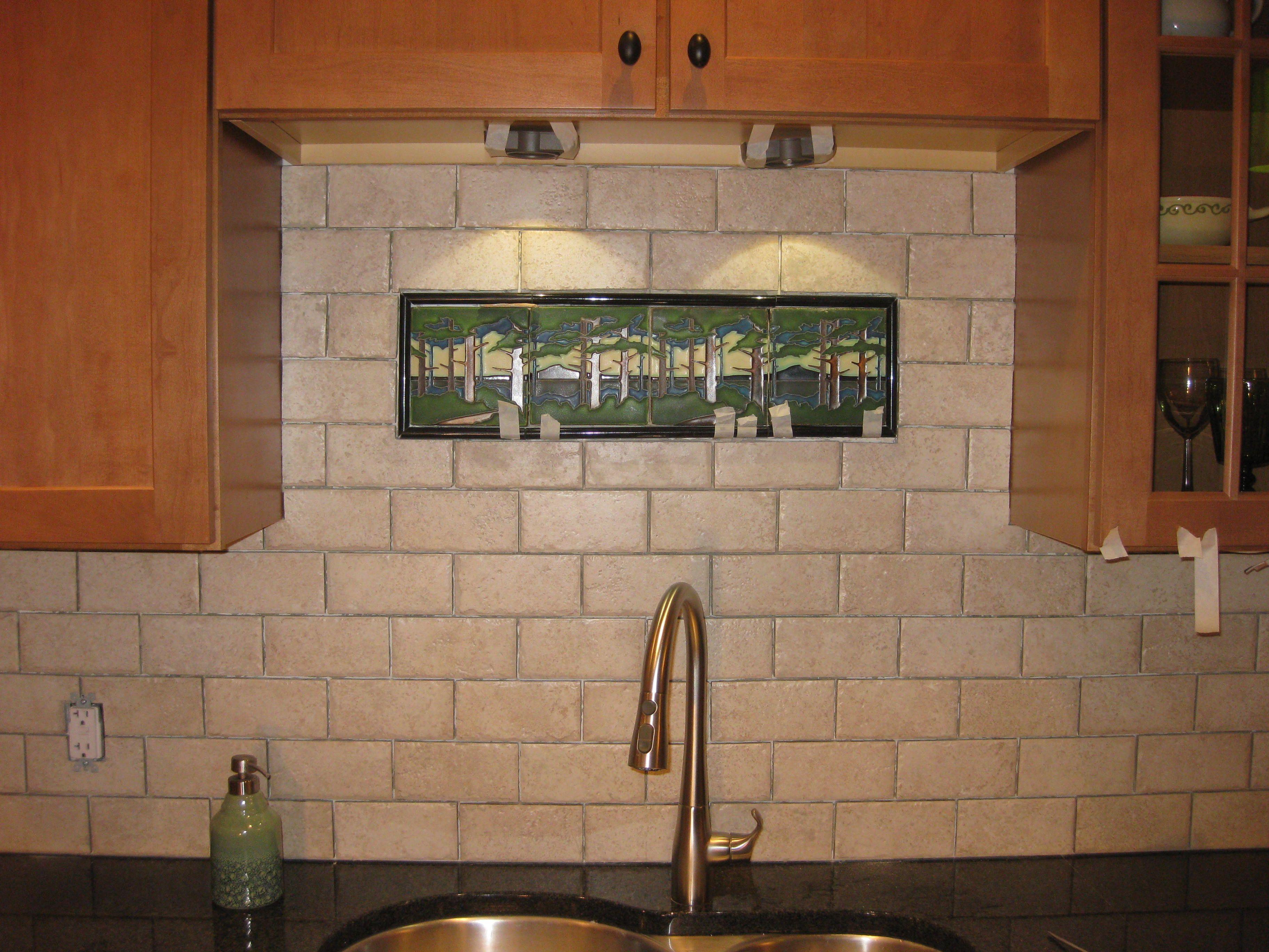 Dyi back spash using motawi tile backsplash dyi back splash dyi back spash using motawi tile craftsman kitchen dailygadgetfo Choice Image