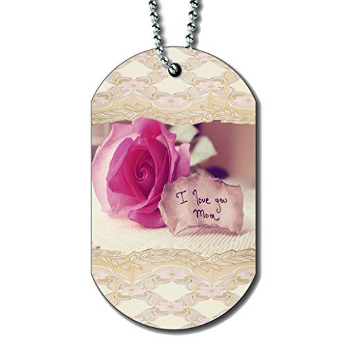 i love you mom dog tag necklace be sure to check out this helpful article dogidtags dog id tags pinterest dog tag necklace dog care and dog