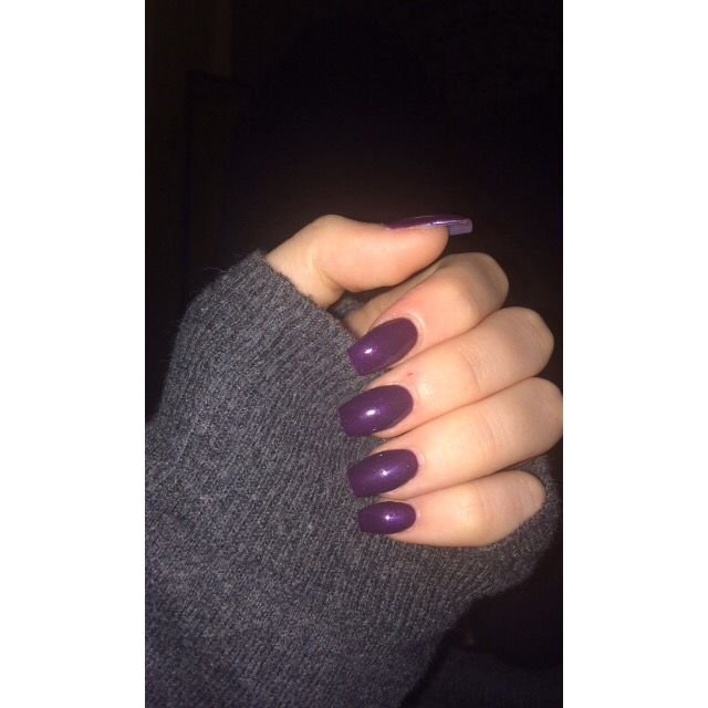 Dark purple acrylic nails | Nails | Pinterest | Purple ...