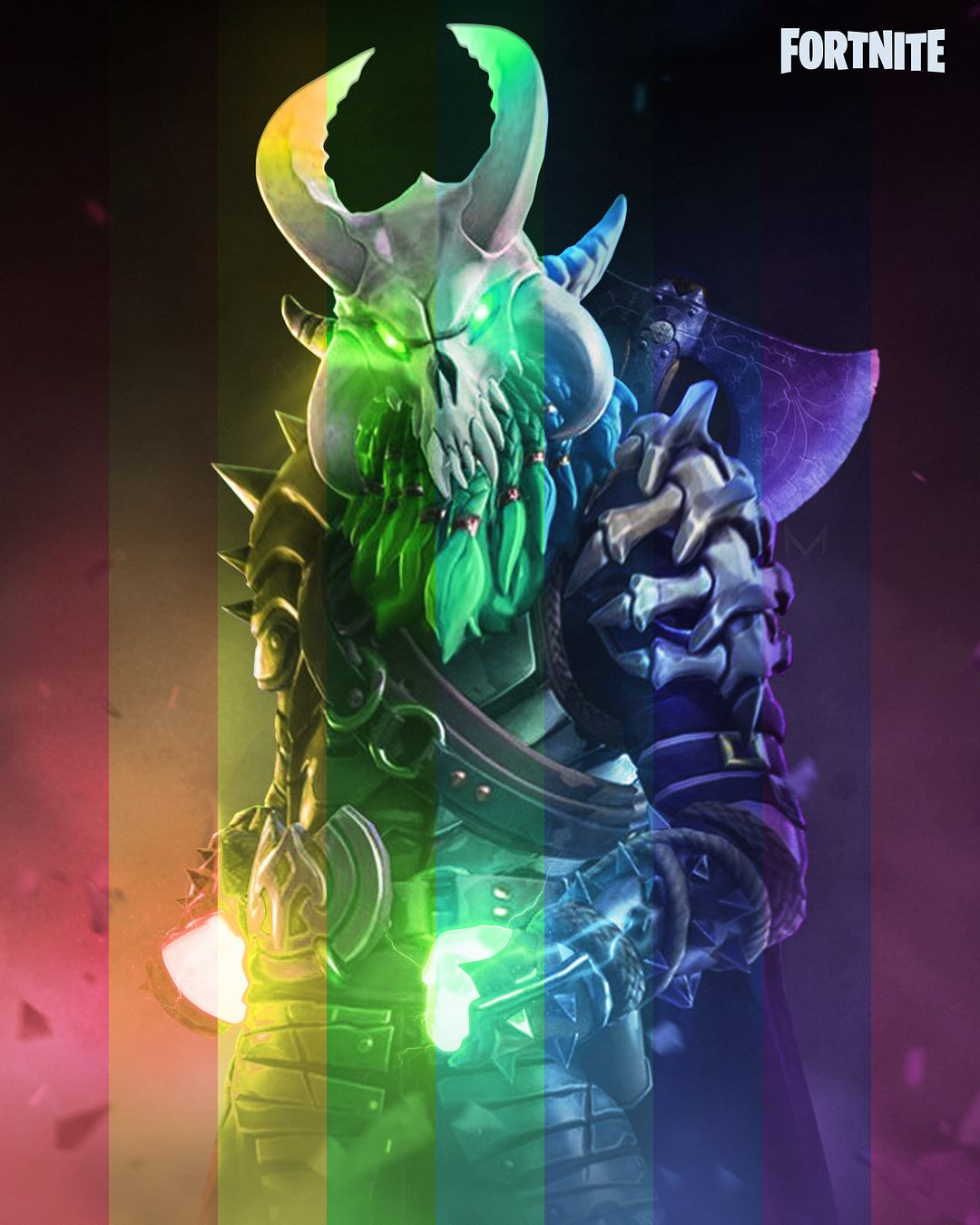 Rainbow Ragnarok Fortnite Which Color Is The Best Hey All I Did These After I Made My Ragn Wallpaper Backgrounds Gaming Wallpapers Android Wallpaper