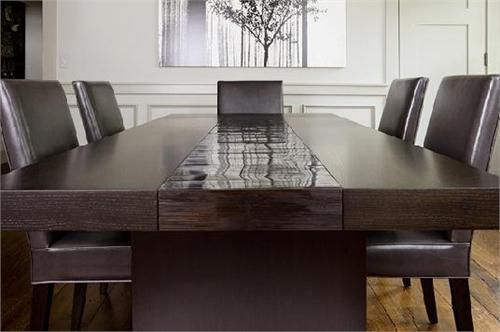 High end Bamboo dining table Custom made furniture from Aguirre