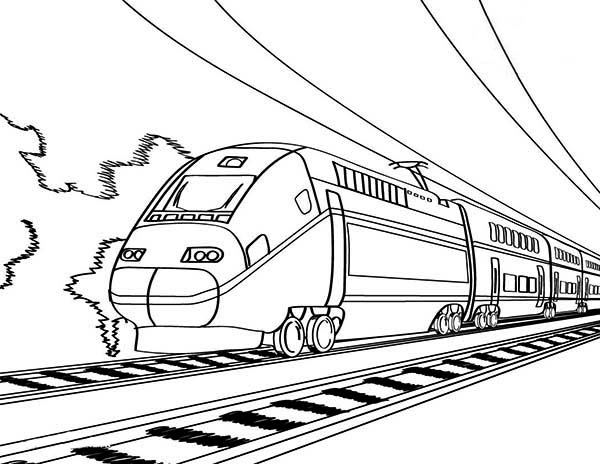 European High Speed Train Coloring Page Color Luna Train Coloring Pages Printable Coloring Pages Coloring Pages