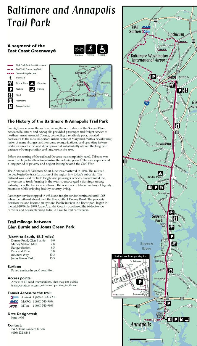 The B Trail Park stretches from Boulters Way in Annapolis to Dorsey