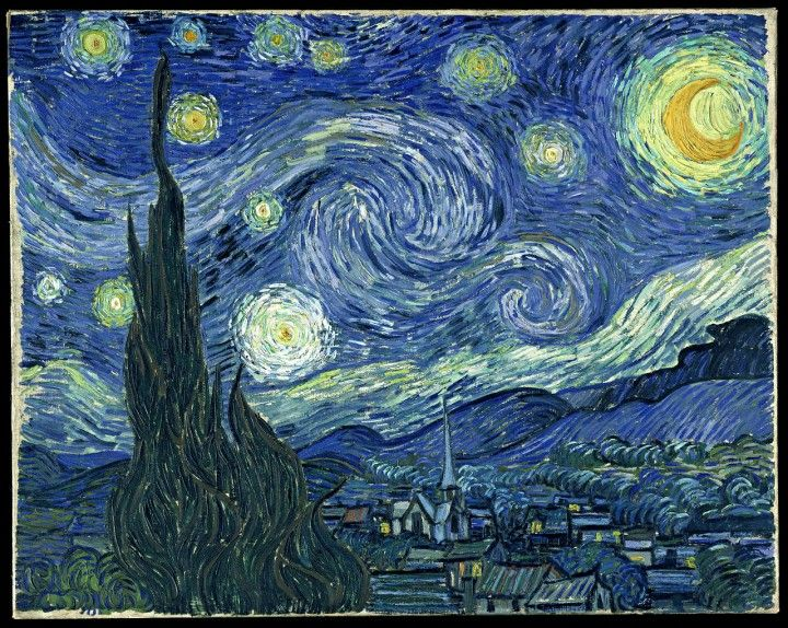 Painting Analogous Colors Gogh The Starry Night