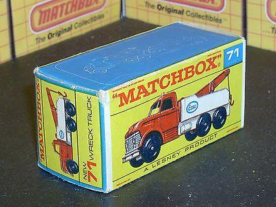 Matchbox Lesney Original Type F Box  71c Ford Heavy Wreck Truck EMPTY BOX ONLY  - http://www.matchbox-lesney.com/42795