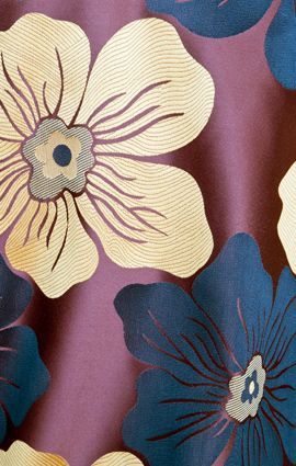 We love this gorgeous black, chocolate and gold floral pattern!