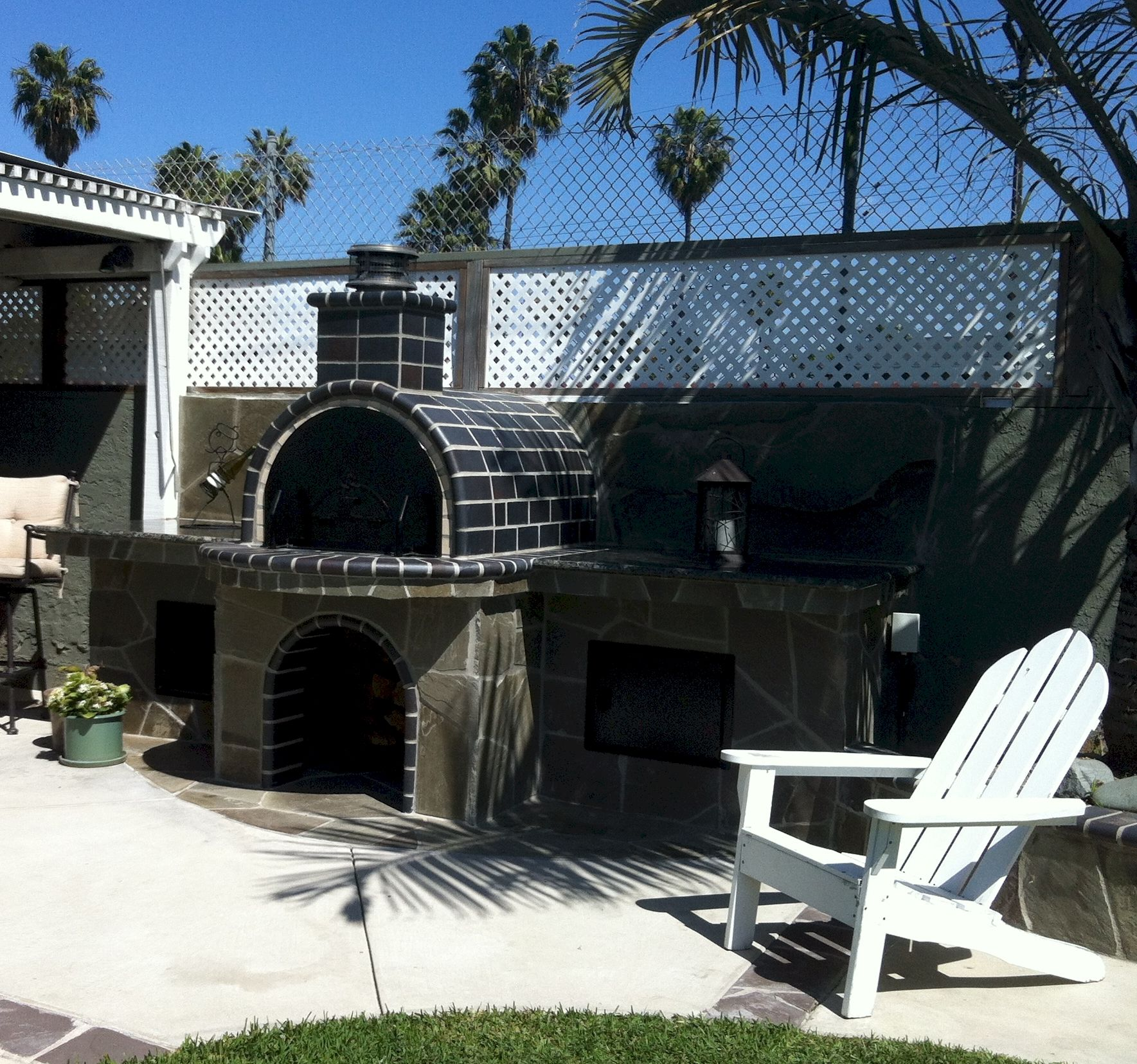 el diablo only in california a beautiful black tiled wood fired