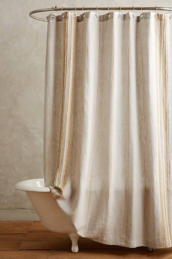 Coyuchi Striped Linen Shower Curtain Anthropologie Shower