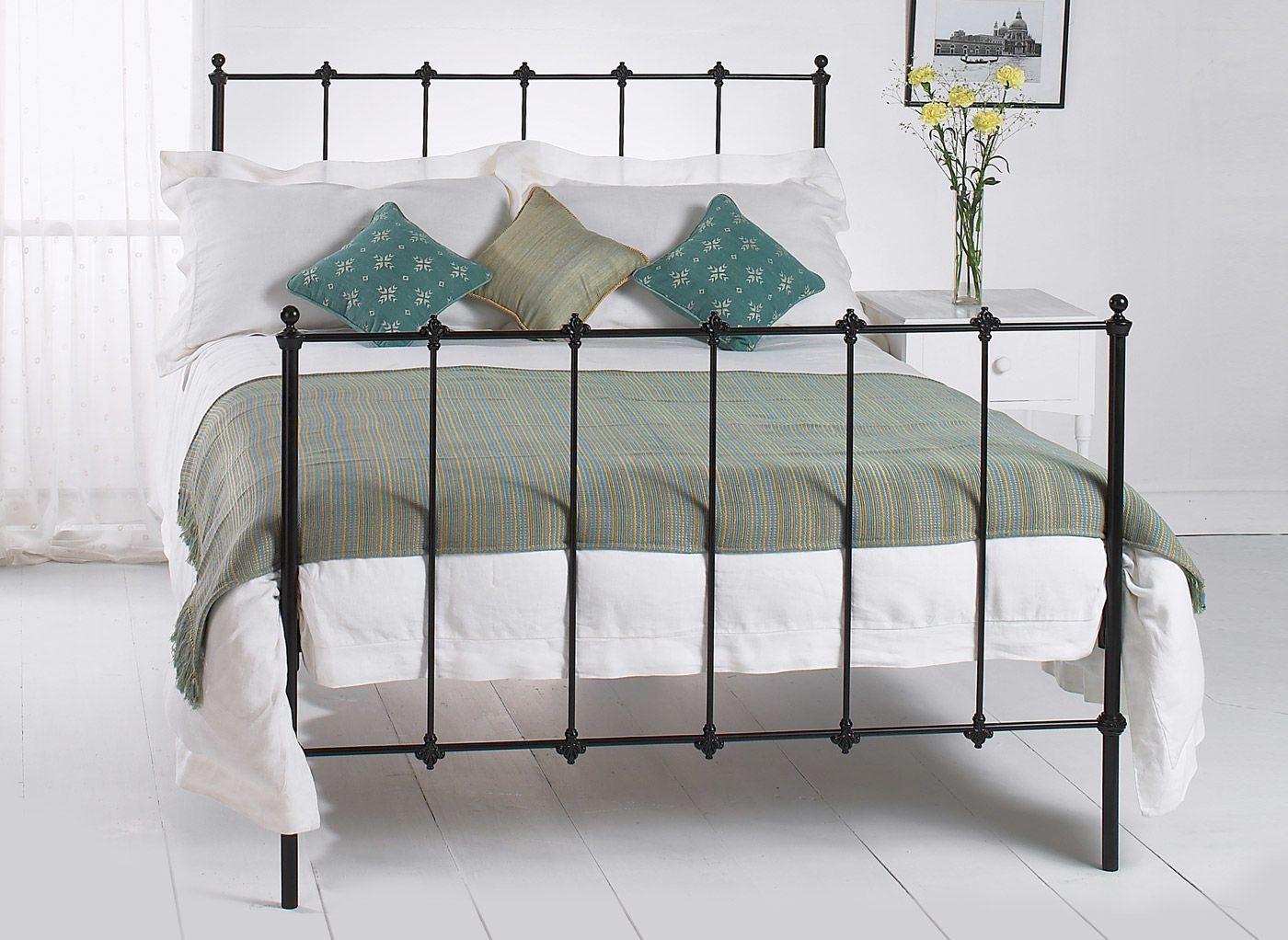 Paris Satin Black Metal Bed Frame