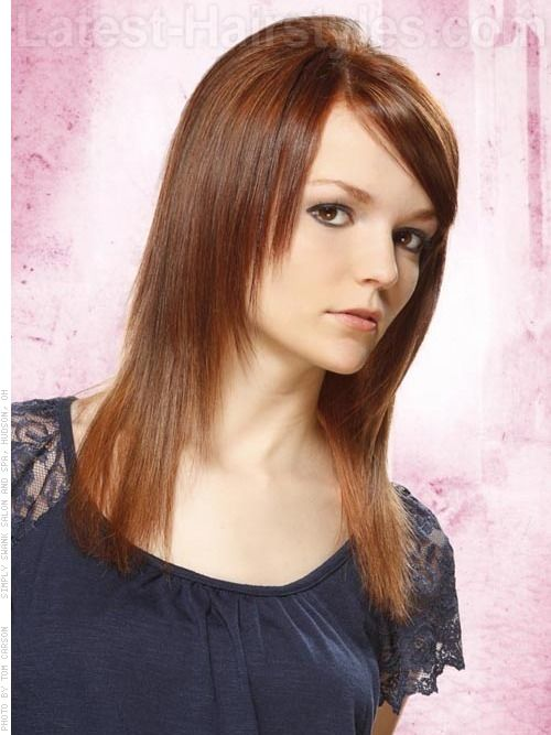 Tapered Straight Hair - only layered in front with side swept ...