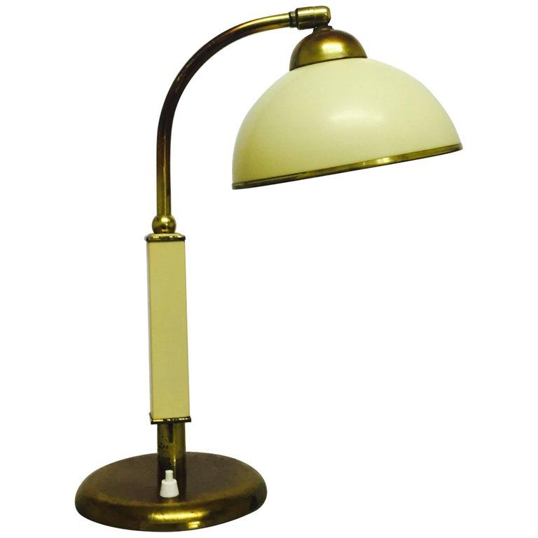 Art Deco Brass And Bakelite Table Lamp Germany Bauhaus Style Circa 1930s Modern Brass Table Lamps Lamp Table Lamp