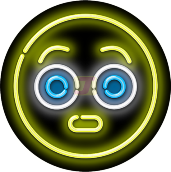 Surprised Face Emoji Neon Sign Neon Signs Surprise Face Emoji