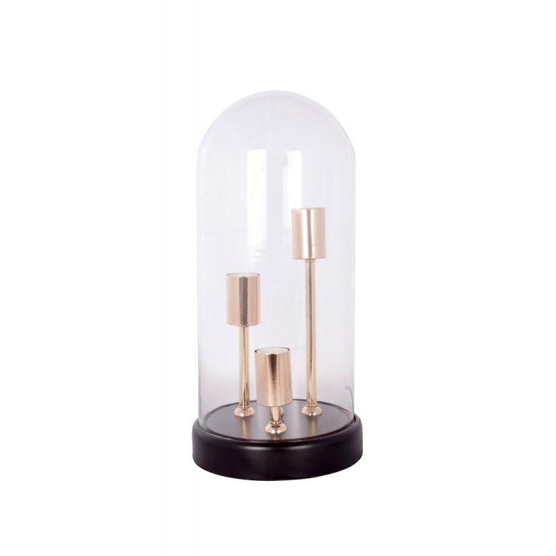 Lampe De Table Cloche Design En Verre Sybille Transparent Lampes De Table Lampe Lampe De Table Design