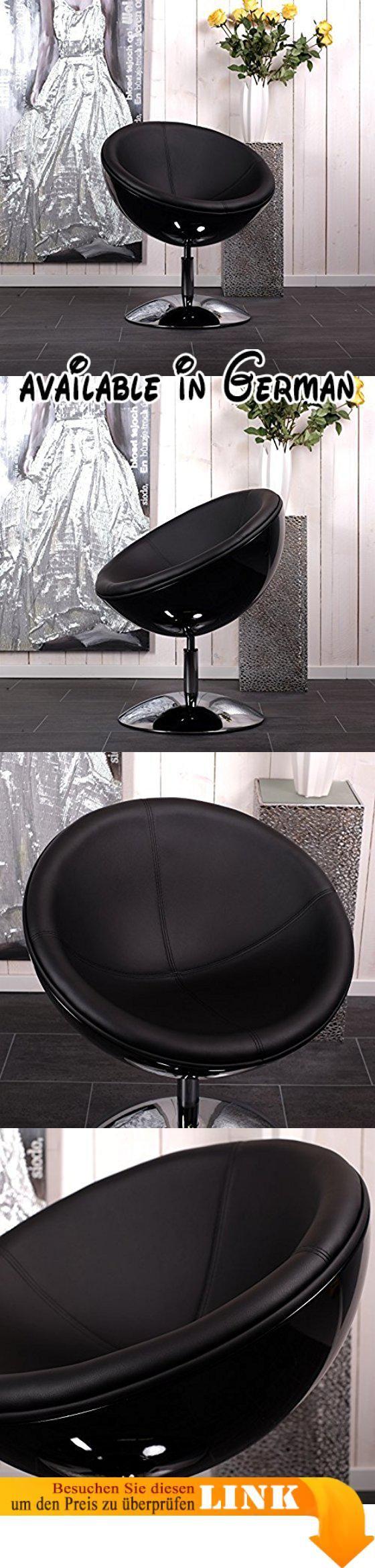 B004D2WDJM : DESIGNER SCHALENSESSEL retro Möbel Lounge Cocktailsessel bequem gepolstert C13 schwarz-schwarz. gepolstert und drehbar in einzigartiger Symbiose aus Design und Material. Gestell: verchromter Stahl. Maßen ca. Höhe:79cm Durchmesser:70cm Höhe Lehne 36cm Gewicht 12 Kg. Wählen Sie Ihre Lieblingsfarben! Erste angegebene Farbe: Schale zweite Farbe: Sitz. Sitz: gepolstert mit LederTex Schale: glasfaserverstärkter Kunststoff (gfK) lackiert