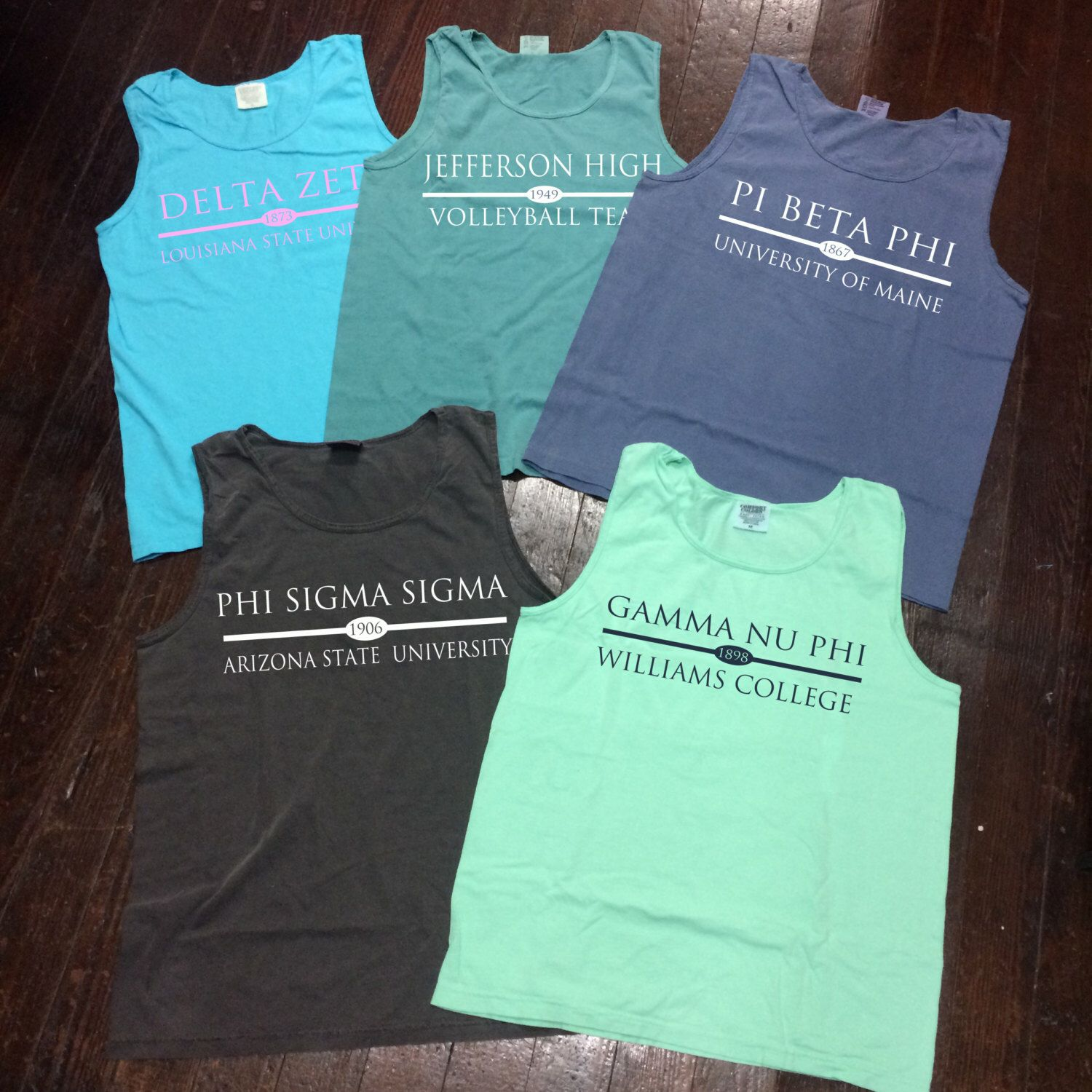 Design t shirt comfort colors - Sorority School Team Comfort Colors Tank Top Preppy Bar Design By Campusconnection On Etsy