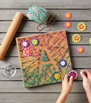 Make Corkboard String Art
