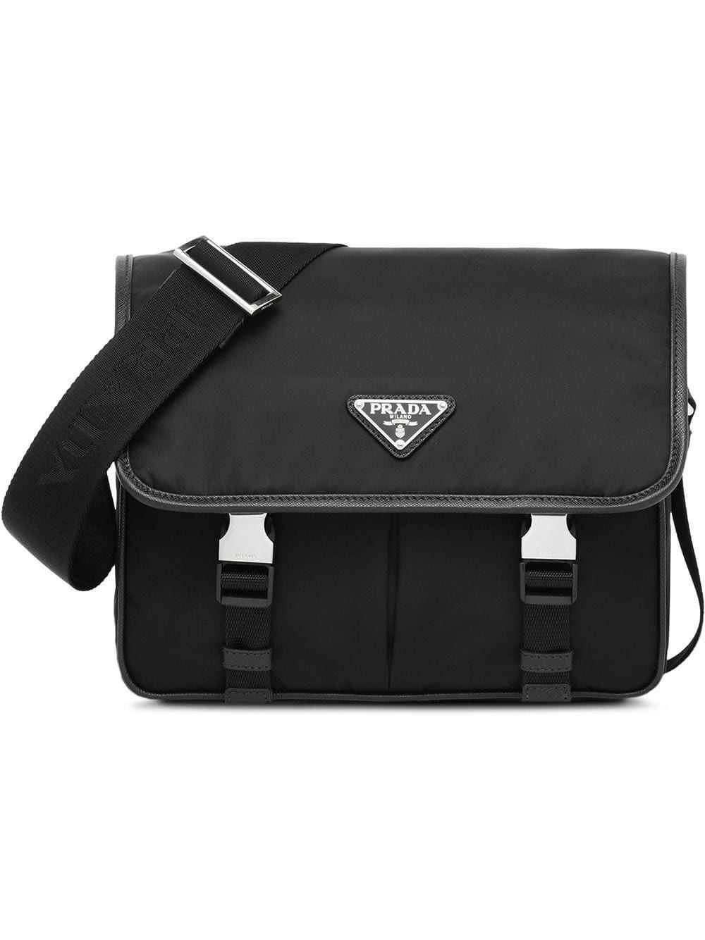 f764c5315c PRADA PRADA SAFFIANO MESSENGER BAG - BLACK.  prada  bags  shoulder bags   leather