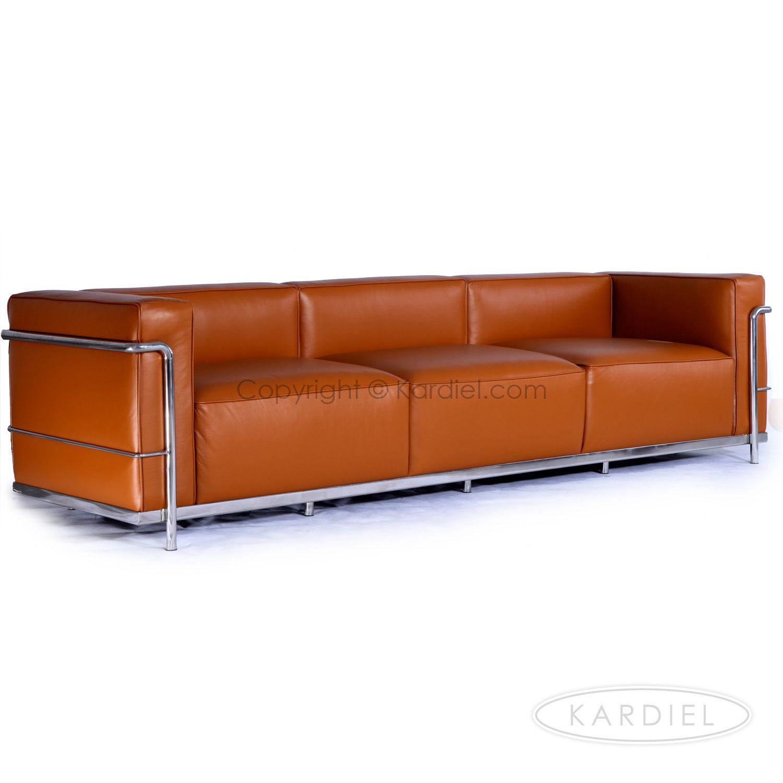 Le Corbusier Style Lc3 Sofa 3 Seat Caramel Premium Leather Leather Sofa Bed Caramel Leather Sofa Sofa Design