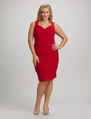 Dress Barn Tiered Red Dress