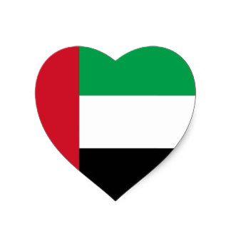 United Arab Emirates Emirian Flag Heart Sticker R0f016ac94bc443bca975e5a31753680d V9w0n 8byvr 324 Jpg 324 324 Uae National Day Uae Flag Heart Stickers