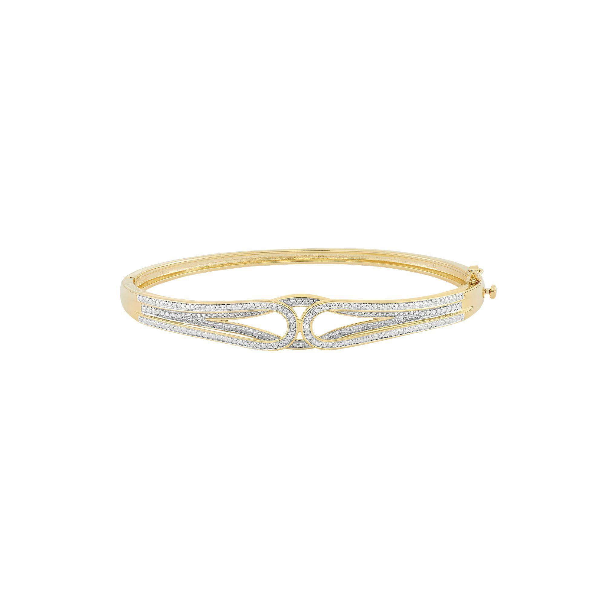 Kohlus k gold over silver hinged bangle bracelet bangle and products