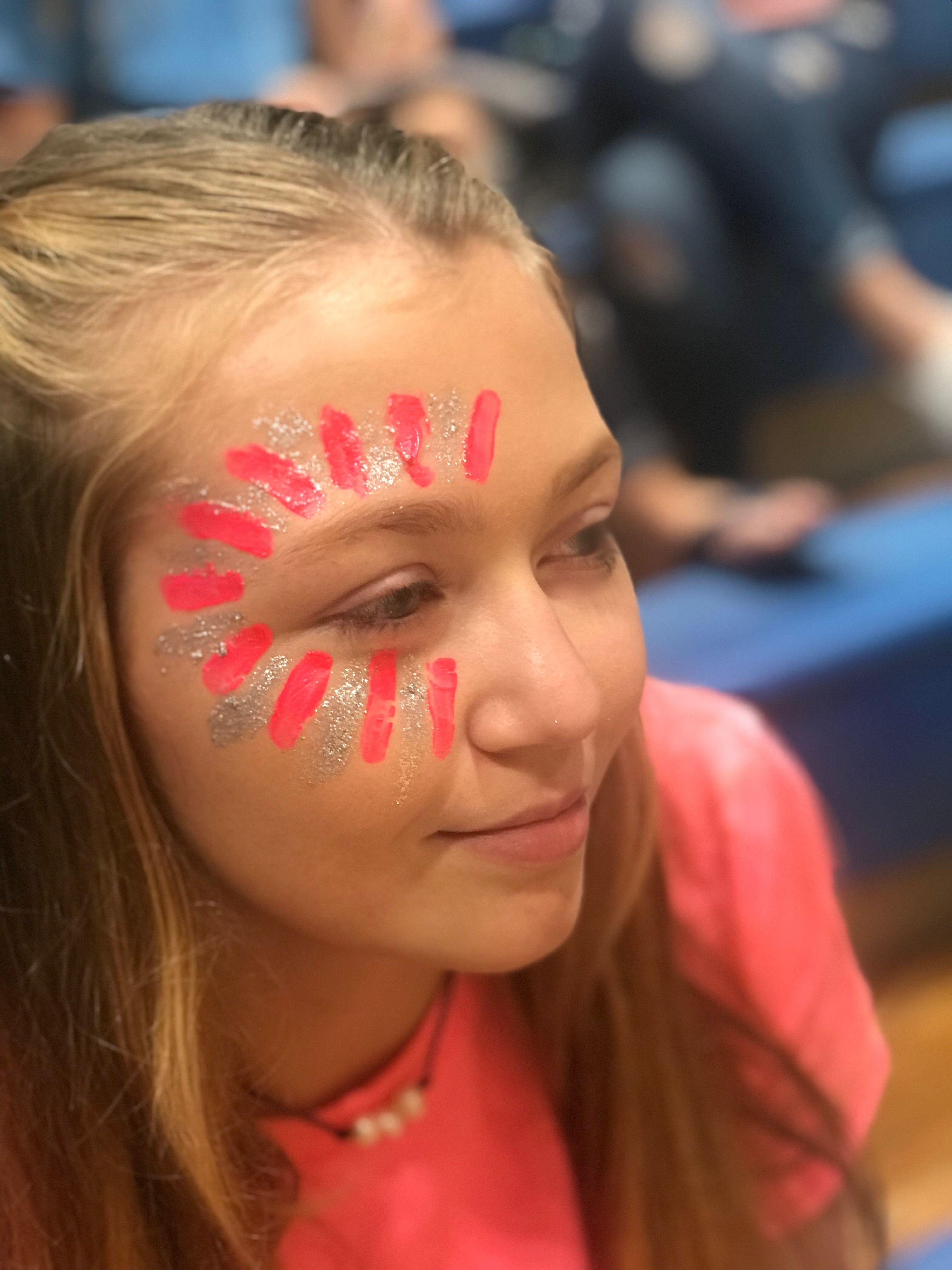 Pin By Madison Derosa On Football Szn School Spirit Face Paint Spirit Week Outfits Homecoming Spirit