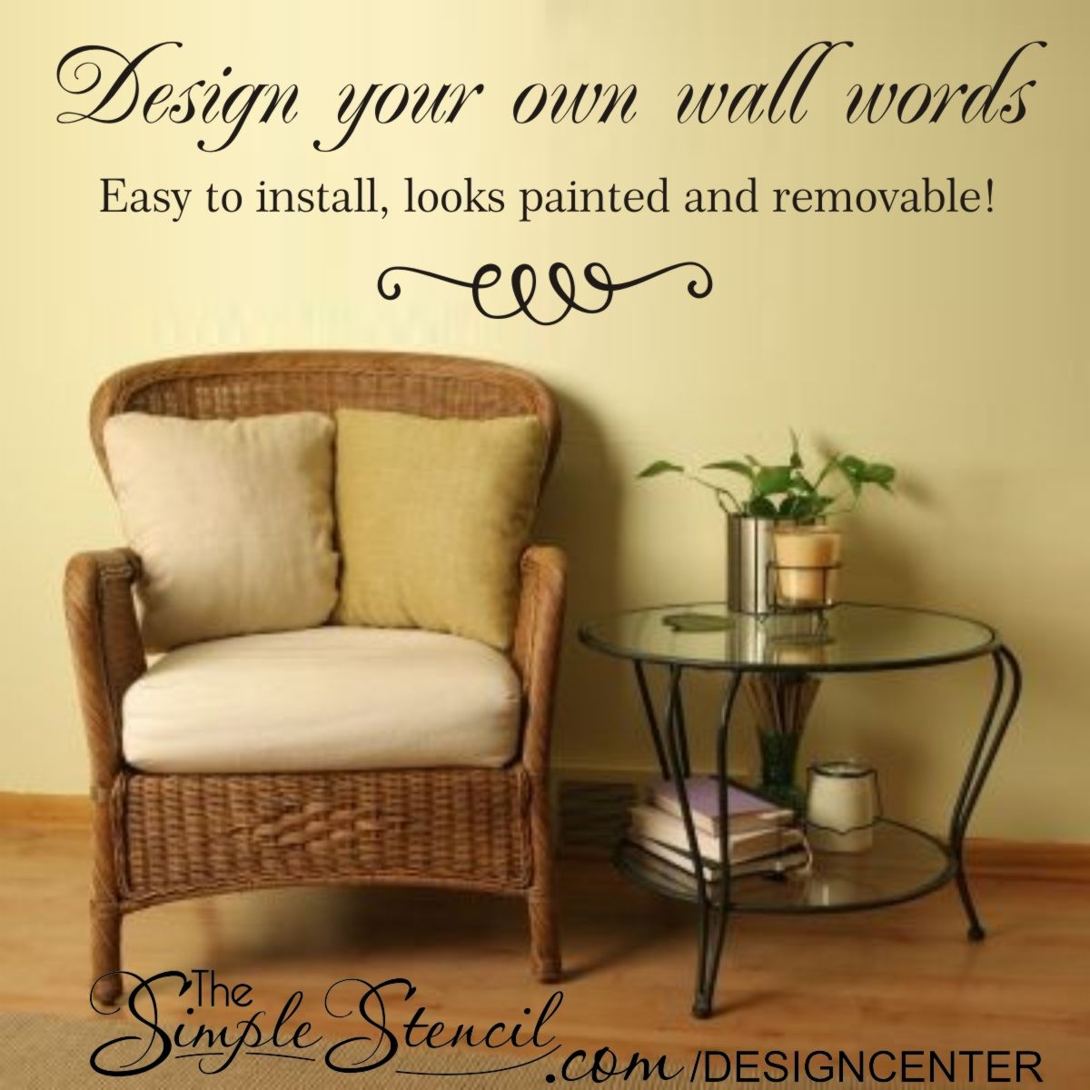 Design custom wall decals, words, letters, names, songs, poems, etc ...