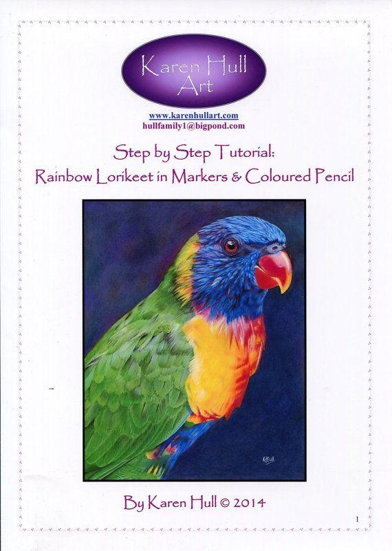 Step By Step Art Tutorial Rainbow Lorikeet In By Karenhull