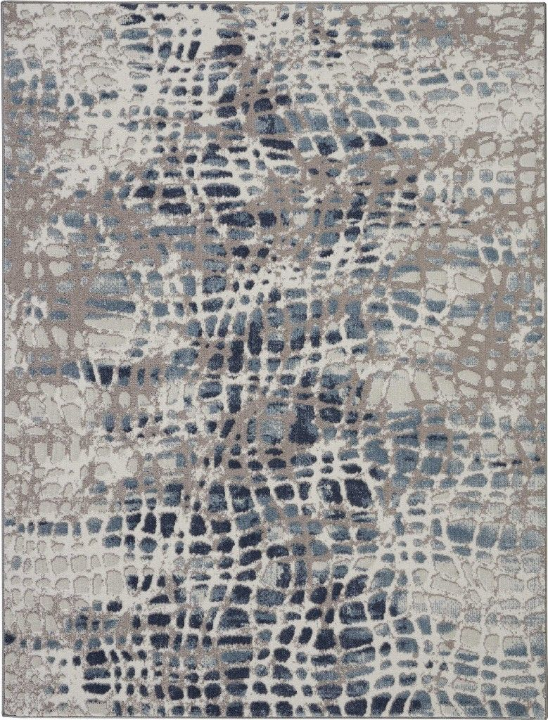 Urban Decor 4 X 6 Slate Blue And White Rustic Area Rug Nourison Urd04 Urban Decor Unique Rugs Rustic Area Rugs