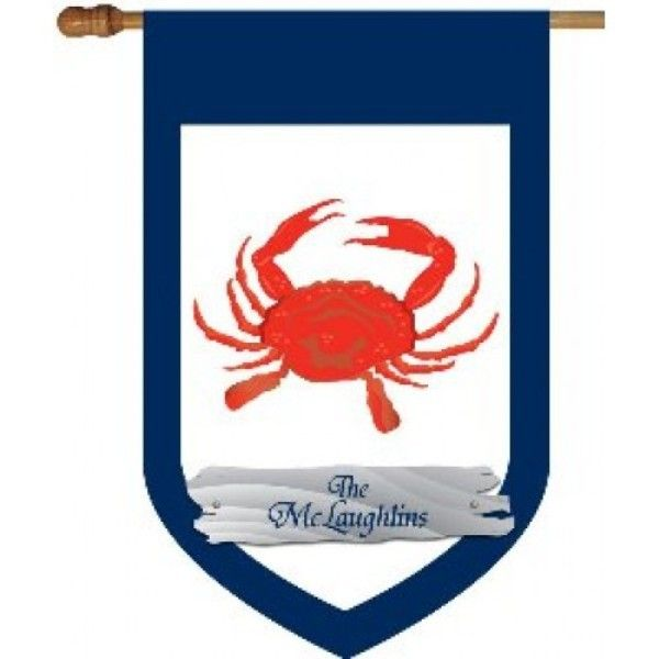 house garden flag red crab