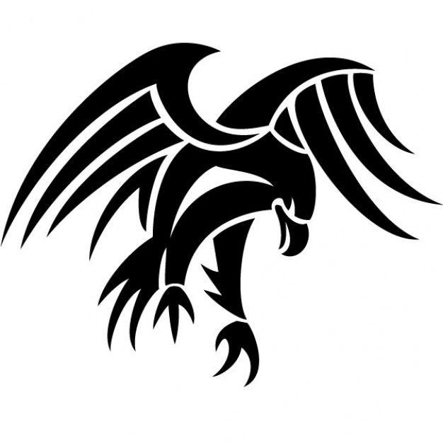 Black tribal eagle vector tattoo | tats | Eagle tattoos