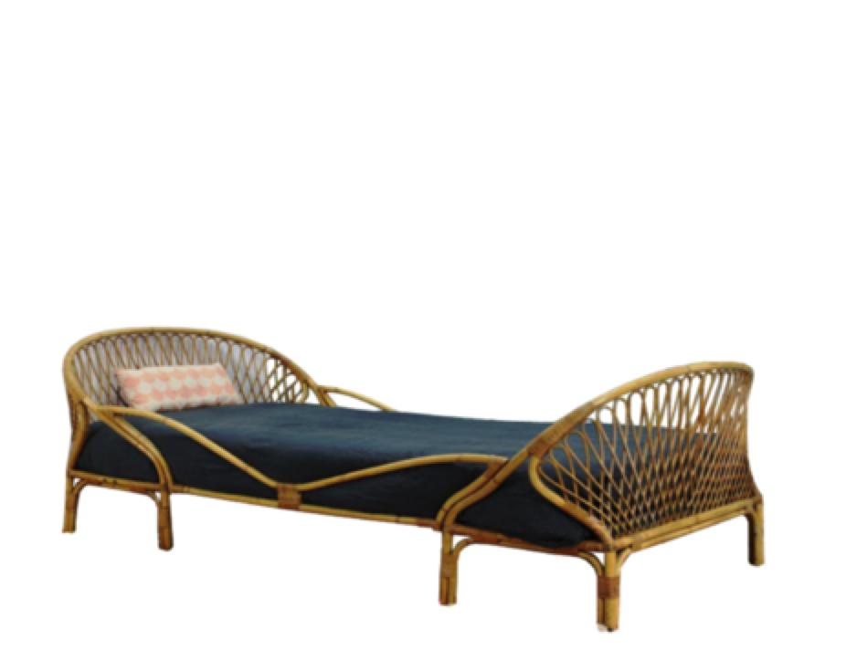 Farm rattan bed based on The Farm, Byron Bay (With