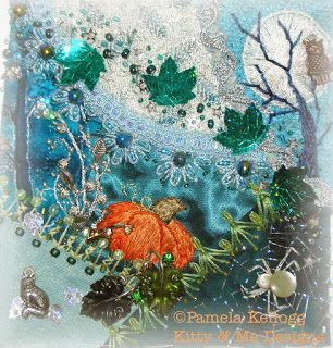 Crazy Quilting and Embroidery Blog by Pamela Kellogg of Kitty and Me Designs: Crazy Quilt Class Lesson 9