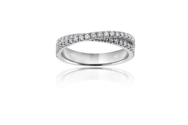 Reis Nichols Jewelers SCOTT KAY Crossover Diamond Wedding Band
