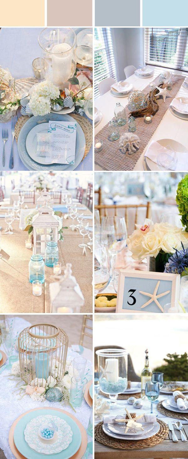 Wedding Table Setting Decoration Ideas For Reception Beach