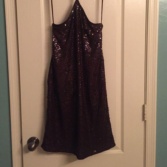 Emma Black Halter Top Sequence Dress Size 8 Color: Dark Brown **New without tags** Emma Black Dresses