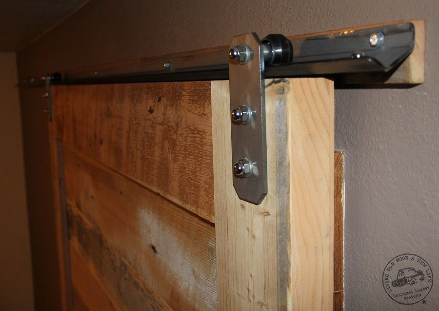 Low Profile V Track Lowest Clearance Barn Door Hardware Reclaimed Lumber Products Barn Door Hardware Diy Barn Door Sliding Barn Door Hardware