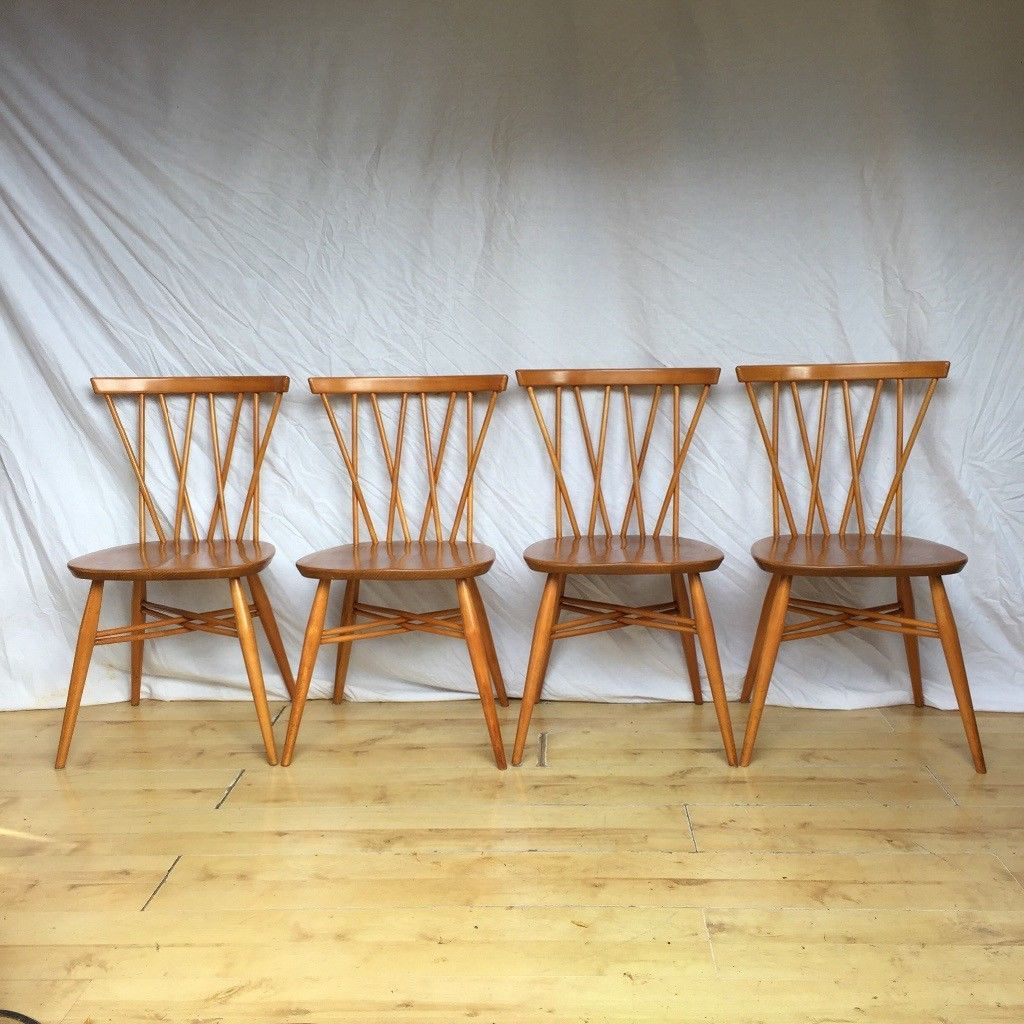 Set of stunning Vintage Ercol candlestick 376 dining