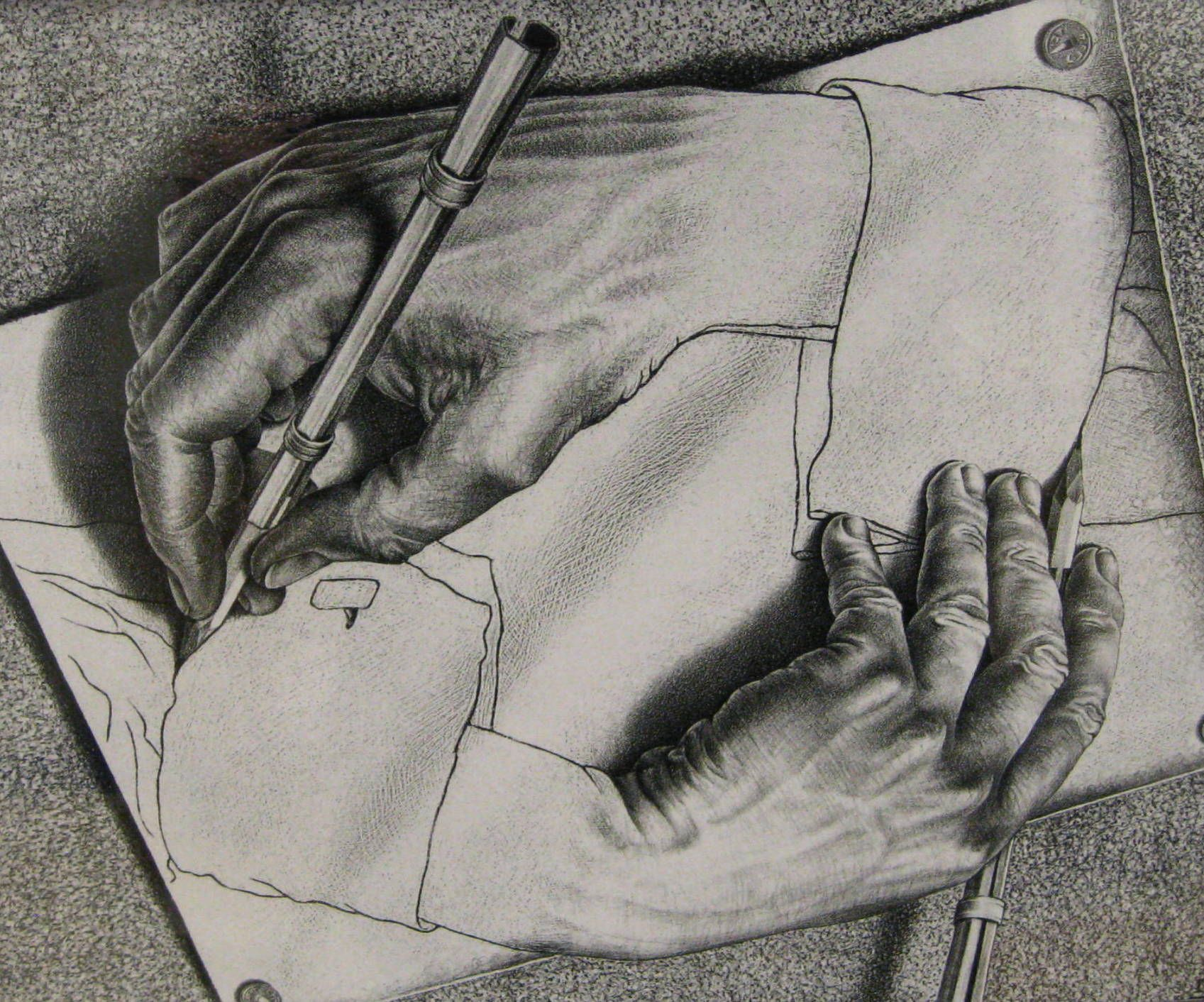 Image result for mc escher pencil