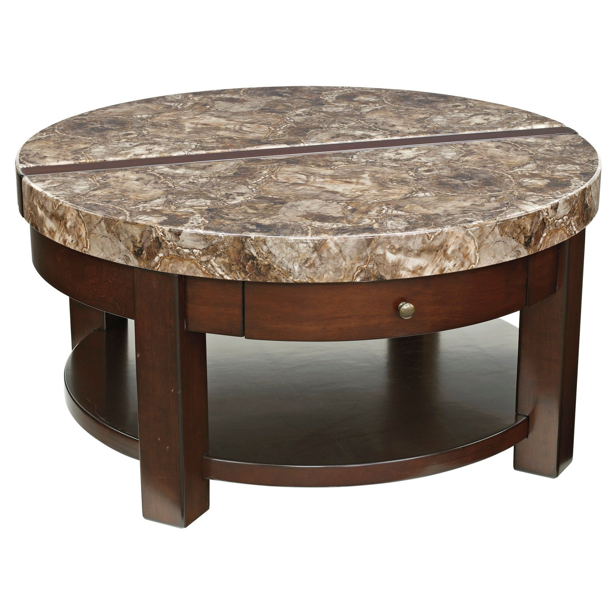 kraleene coffee table dark brown signature design by ashley rh pinterest com