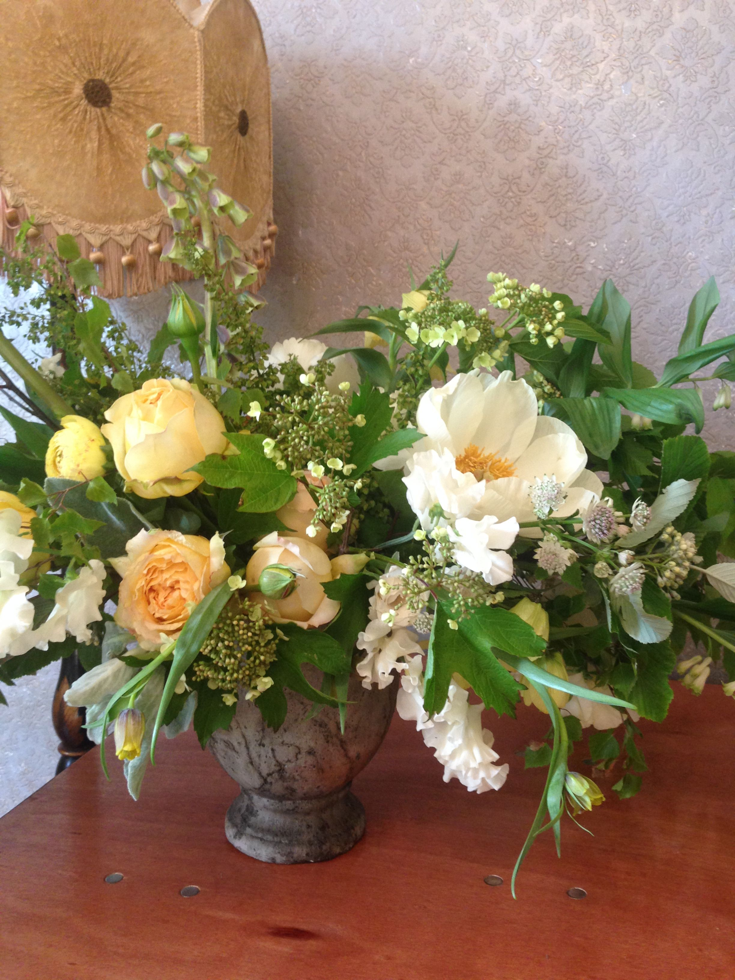 My arrangement from Little Flower School with Saipua and
