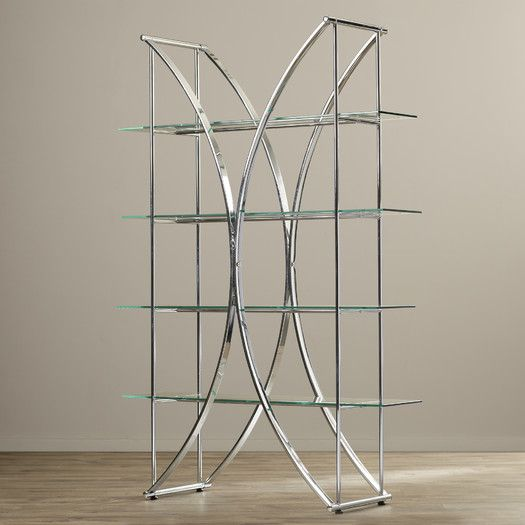 Staple Geometric Bookcase With Images Glass Shelves In