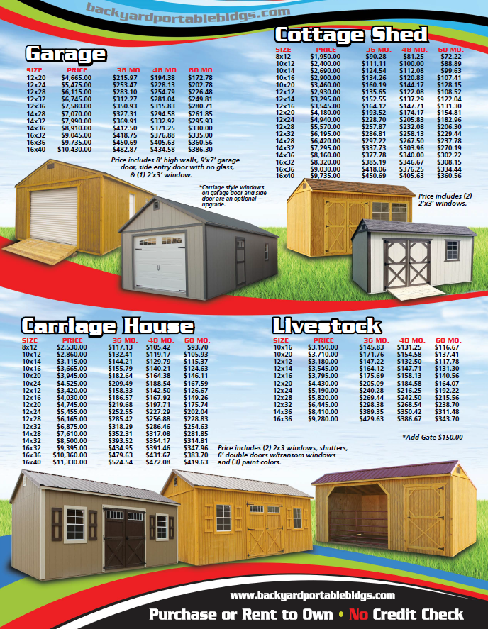 Backyard Portable Buildings Price List Shed Prices Portable Buildings Portable Sheds