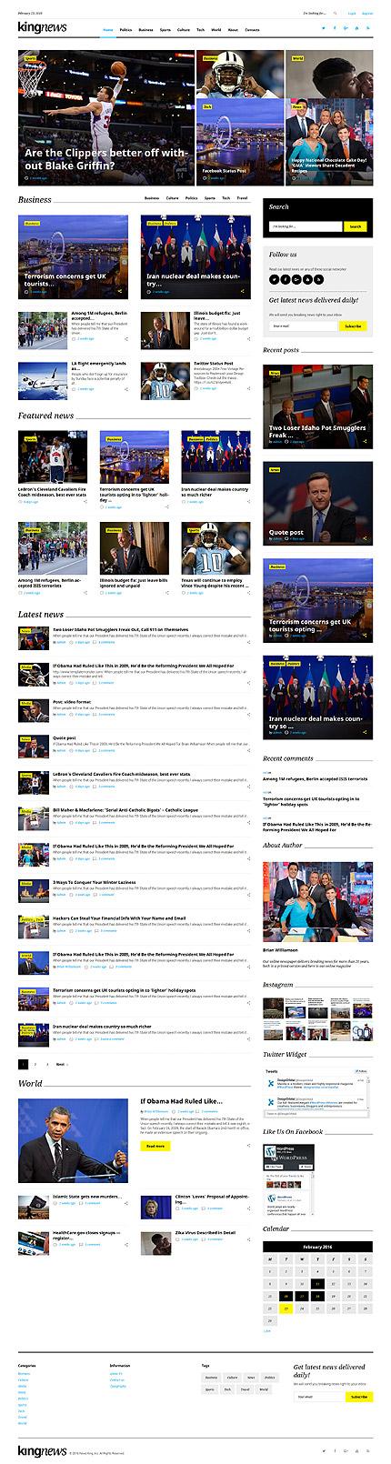 Sport News Portal #Wordpress #template. #themes #business ...