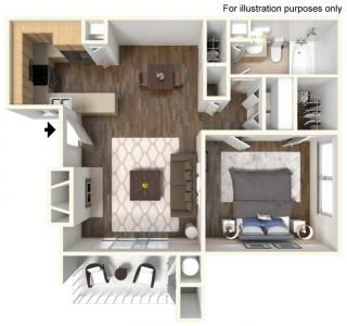 1 Bedroom 1 Bathroom Apartments For Rent Apartment Communities Apartment